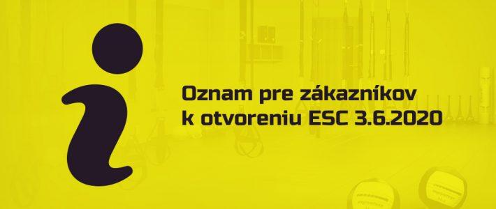 Znovuotvorenie Elite Sport Centre
